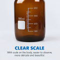 Transparent Brown Glass Reagent Bottle