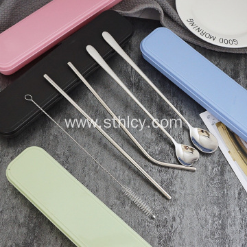 New Multifunctional Travel Cutlery Stainless Steel Straw Set