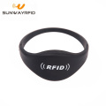 13.56MHz NTAG 216 Passive RFID Silicone NFC Wristband