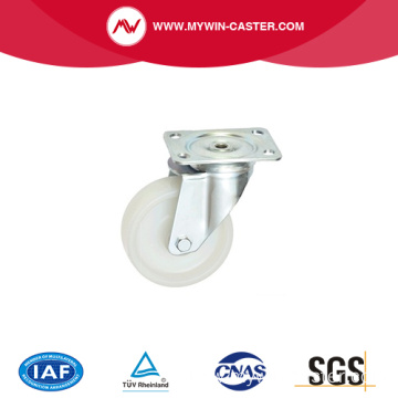 stainless steel swivel white nylon tire caster