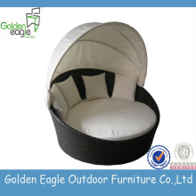 Hot sale SGS PE rattan wicker sunbed