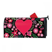 Custom Outdoor Red heart Magnetic Mailbox Cover