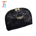 fashion item cosmetic bag leather makeup bag black lace travelling makeup bag
