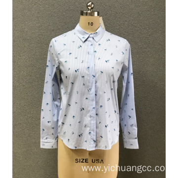 women`s strip print shirt