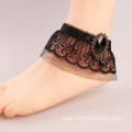 Mystery Black Lace Anklet Gemstone Ankle Bracelets For Women