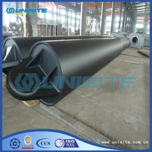 Structure floating steel pipes