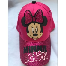 One of Hottest for Children Printing Baseball Cap Disney Mickey Glitter Microfiber Baseball Cap export to Tokelau Factories