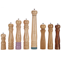 Rubber wood pepper mill & salt