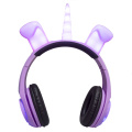 LED colourful lighting headphone free sample earphones