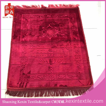 Factory&wholesale embossed muslim mink prayer mats for