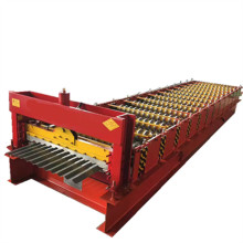 Color sheet corrugated metal roofing machine