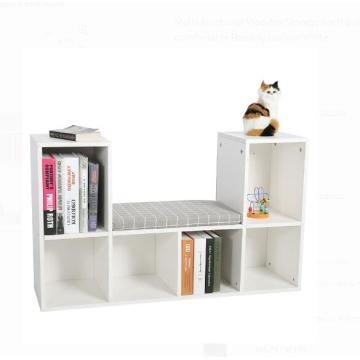 China supplier OEM for Small Bookcase Low Long White Corner Bookcase  Furniture Design supply to United States Supplier