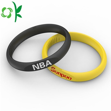 Healing Power Wristbands Charm Silicone Elastic Bracelets