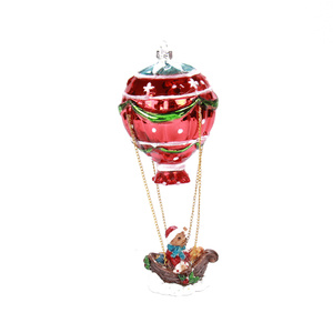 China Factory for Christmas Decoration Ball,Ornamental Glass Balls,Clear Christmas Balls Bulk Manufacturers and Suppliers in China Hot-air Balloon Blown Glass Christmas Ornament For Christmas Tree supply to Bangladesh Factory