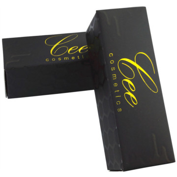 Black Matte Gold Foil Lipstick Box
