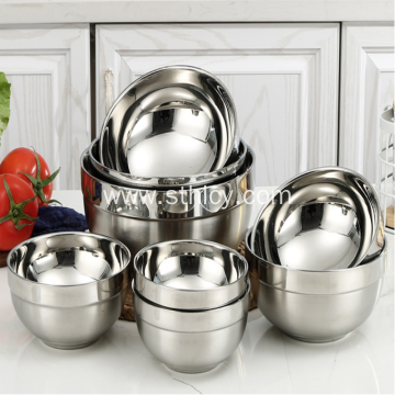 304 Thickened Insulated Round Stainless Steel Bowl