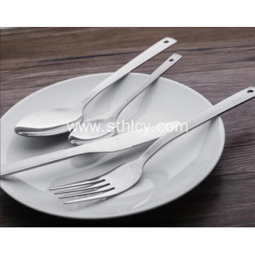Stripe Stainless Steel Knife and Fork Sets