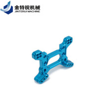CNC milling machining aluminum parts with blue anodizing