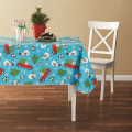 Tablecloth PE with Needle-punched Cotton Snowman Square
