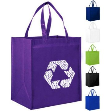 Laminated tote shopping bag custom for sale