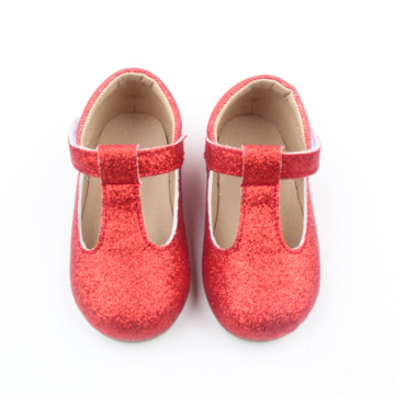 Toddler Mary Jane Red T-bar Dress Shoes