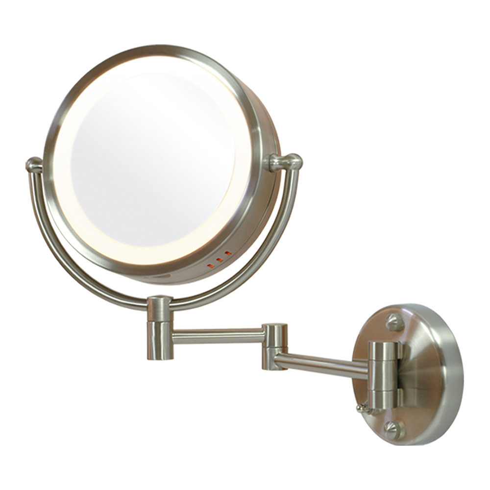 Fogless double vanity mirror