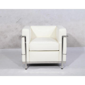 White Leather Le Corbusier LC2 Chair Replica
