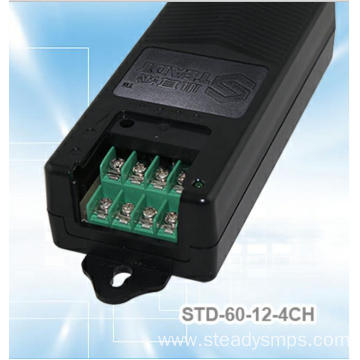 10 Years for Network Switch Power Supply 4 Splitters DC Power Supply 12VDC 60W supply to Japan Wholesale