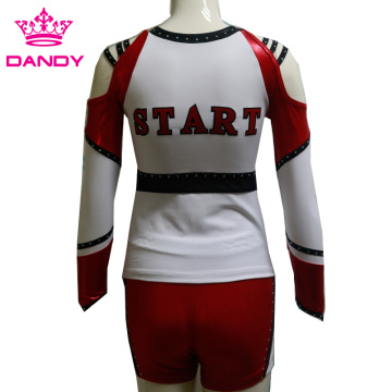 Custom All Stars Metallic Langermet Cheerleading Uniformer