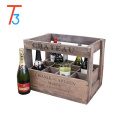 unfinished wooden wine crate box - 12 bottle holder