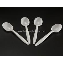White Disposable Plastic Spoon