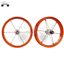 Orange 6061 alloy rim 12H 12inch wheel set