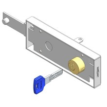 China Gold Supplier for Door Lock Cylinder Up and Over Garage Door Lock Computer Key export to Spain Exporter
