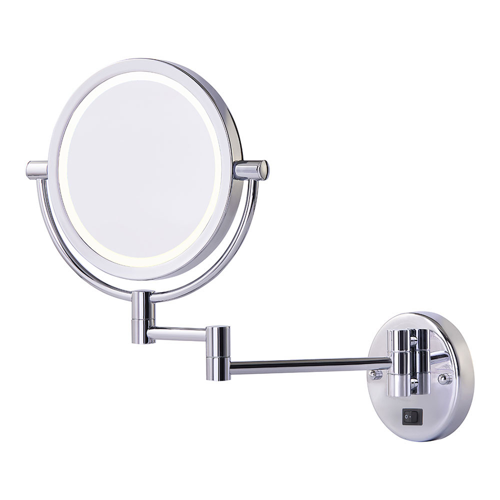 Double vanity mirror with dual- arms