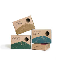 Cheap Kraft Paper Wood-Free Soap Packaging Boxes