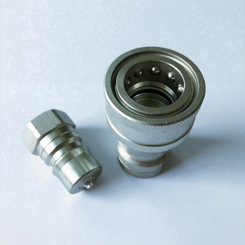 ISO7241-1B 6.3 size G1/4'' carton steel quick coupling
