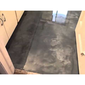 Kitchen metallic epoxy floor