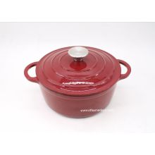 Red enamel cast iron casserole 24''