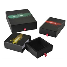 Creative Custom Black Matte Hard Paper Drawer Box