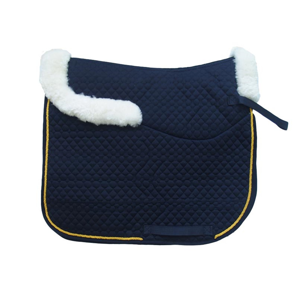sheepskin horse saddle pad