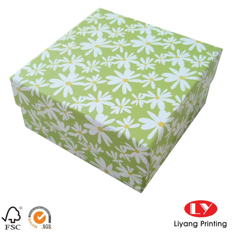 Custom Paper Gift Box with CMYK Color Printing