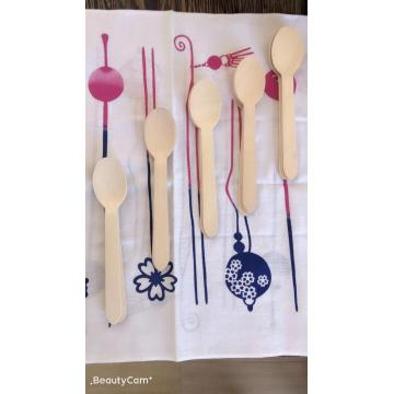 Disposable wooden knife spork spoon set
