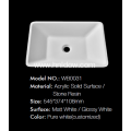 Freestanding Modern square special pure acrylic washbasin
