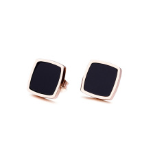 Personlized Products for Heart Stud Earrings Fashion ladies black square stud earrings export to Russian Federation Wholesale