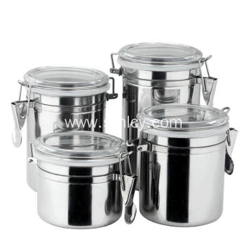 4-Piece 410 Stainless Steel Condiment Pots