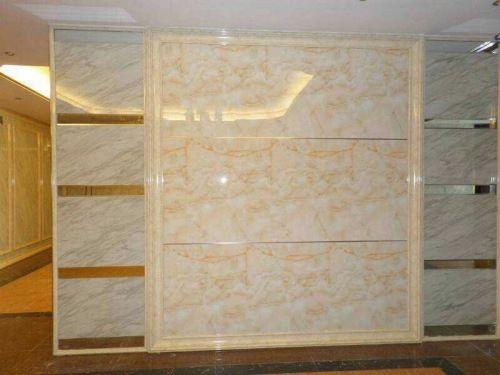 Artificial marble texture wall sheet for inside