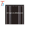 3 Door Assemble Fabric Portable Wardrobe with wheels