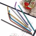Engraving Stainless Straw Reusable Metal Drinking Straw