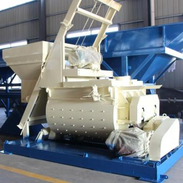 JS1500 small double shaft concrete mixer in Malaysia