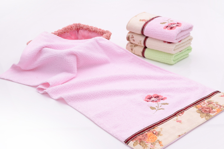 Applique Cotton Towels